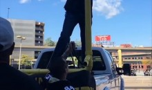Steelers Fans Set up a Crazy Goalpost Beer Bong for Their Tailgate (Video)