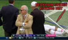 After Scoring TD, Odell Beckham Jr. Lays Under Kicking Net (Video)