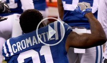 Colts' Antonio Cromartie Stands For British National Anthem; Sits During US Anthem (Video)