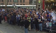 Cubs Fans Line the Street as Team Boards Busses for Cleveland (Pics + Video)