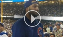 Chicago Cubs Fan Gets Thrown out of Stadium For Trying to Fight Entire Section of Dodgers Fans (Video)