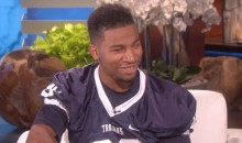 Blind, Deaf Football Player Gets Surprised on 'Ellen' That He's Going to Meet Idol Drew Brees (Video)