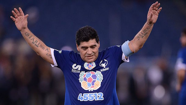 diego-maradona-starts-fight-charity-game-match-for-peace