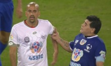 "Diego Maradona Starts Fight During Pope Francis' ""Match of Peace"" Charity Soccer Game (Video)"