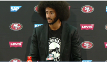 Colin Kaepernick wears Black Panther Shirt to Post-Game Press Conference