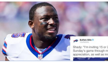 LeSean McCoy Buying Tickets For Police Officers To Bills Game vs Kaepernick's 49ers