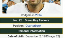Wikipedia Update Hilariously Trolls Struggling Packers QB Aaron Rodgers (PIC)