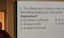 High School Math Teacher Uses Tony Romo In Word Problem For His Class