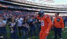 Broncos LB Von Miller Trolls Chargers Fans With Fake Handshake Before The Game (Video)