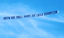 "Plane Banner Above Neyland Stadium: ""Kiffin Has Small Hands. Ask Layla"""