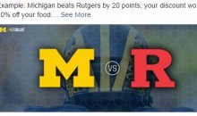 Michigan's 78-point Win Backfires For Steak House Who Ran 'Score Big' Promo