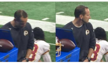 Redskins Special Teams Coach Caught Peeing Into Gatorade Cup By Lions Fans