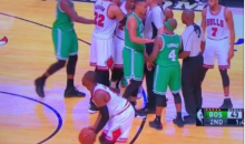 Dwyane Wade Practices His Shot While Teammates Scuffle (Video)