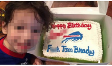 5-Year-Old Gets Custom Birthday Cake With A Message For Tom Brady