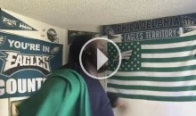 Eagles Fan 'EDP' Goes OFF After Team Suffers 1st Loss of The Season (Video)