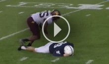 Penn State's 250+ Pound Kicker Gets LAID OUT by Minnesota's Jaylen Waters (Video)