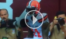 Terrelle Pryor Celebrates TD Against Josh Norman With LeBron Silencer & Chalk Toss (Video)