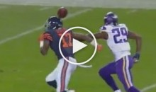 Alshon Jeffery's Helmet Dropped a Perfect Pass From Jay Cutler (Video)