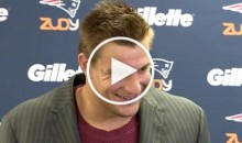 Pats TE Rob Gronkowski Couldn't Resist Making '69′ Joke When Asked About TD Record (Video)