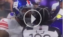 An Upset Odell Beckham Jr. Bumps Referee With His Chest (Video)