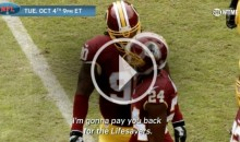 Mic'd Up: Ziggy Hood Admits to Josh Norman Mid-game That He Ate His Lifesavers (Video)