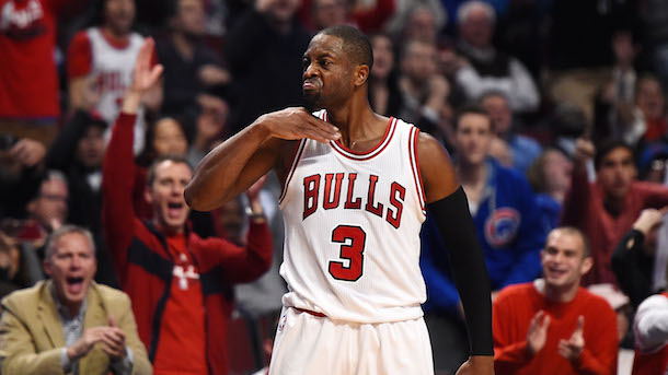 Dwyane Wade Throat Slash Bulls Debut