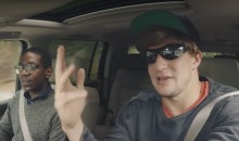 Gronk Goes Undercover as Lyft Driver, Hilarity Ensues (Video)