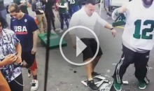 New York Jets Fans Get into a Brawl with a Printer in The Parking Lot (Video)