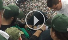Jets Fan Pukes And Gets Carted Off After Watching Ryan Fitzpatrick Throw More INT's (Video)