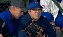 Jim Harbaugh Brought His Glove to Game 5 of the World Series, Because Jim Harbaugh (Pic)