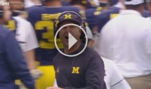 "Michigan Coach Jim Harbaugh Yells 'You F*ckers"" At Refs For Calling Pass Interference (Video)"
