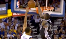 This Jonathon Simmons Chase Block on Steph Curry Sums Up Warriors Blowout Loss to Spurs (Video)