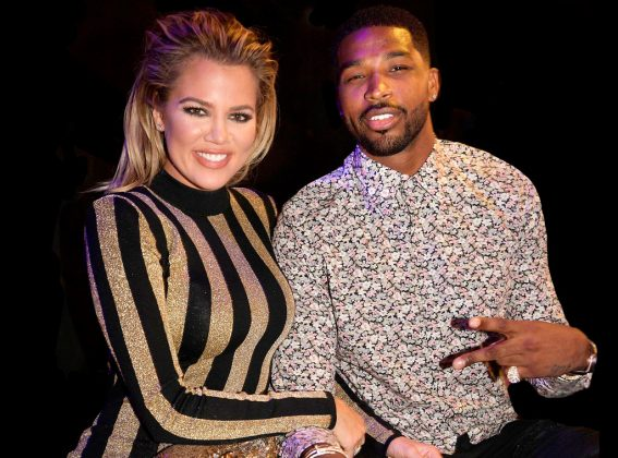 Khloe Kardashian and Tristan Thompson get close at Halloween party
