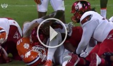 Louisville QB Lamar Jackson Choked By Clemson Linebacker (Video)