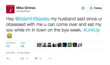 Brent Grimes' Wife, Miko, Tells Miami Reporter To Eat Her A** For Posting Tax Story