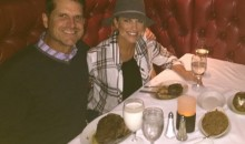 Milk Aficionado Jim Harbaugh Enjoys a Giant Glass of Moo Juice with His Ruth's Chris Steak (Pic)