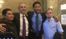 Derrick Rose Poses For Pictures With Jurors After Being Cleared in Civil Rape Suit