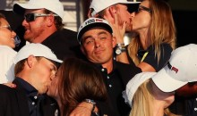 Poor Rickie Fowler Didn't Have Anybody to Smooch After Winning the Ryder Cup (Pics)