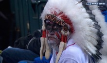 Sad Indians Fan in Incredibly Racist Costume Gets Roasted on Twitter (Video + Tweets)