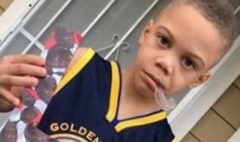 Kid Wears Steph Curry 'Blew 3-1 Lead in NBA Finals' Costume For Halloween (PIC)