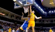Timofey Mozgov Owns Kevin Durant with Savage Block (Video)