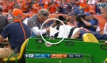 Broncos DC Wade Phillips Carted Off Field After Being Blown Up on the Sideline (Video)