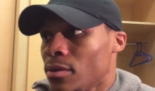 "Westbrook on Playing Clippers & Warriors Back to Back: ""What That Mean?"" (Video)"