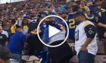 Rams Fans Fight Each Other & One Gets Thrown Down a Few Rows (Video)