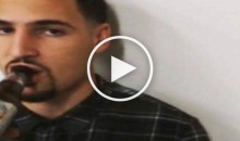 Klay Thompson Casually Sips Coors Light as Reporter Asks Him Questions (Video)