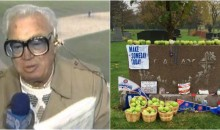 Chicago Cubs Fans Leave Green Apples at Harry Caray's Grave