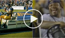 10 Years After Joyride on Cart, Marshawn Lynch Returns To Do It Again (Video)