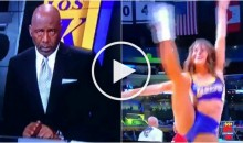 James Worthy Gets Mesmerized by a Dancing Lakers Cheerleader (Video)