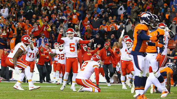 Dustin Colquitt reaction to Cairo Santos game-winning field goal