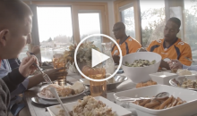 DeMarcus Ware Surprises Servicemen With Thanksgiving Dinner (Video)